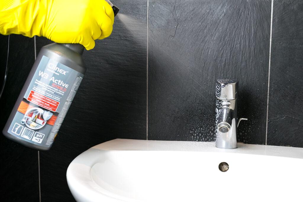 Clinex mycie umywalki