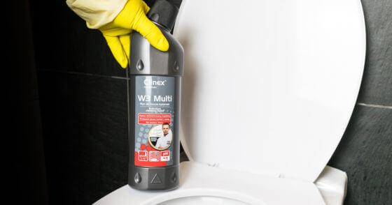 Czyszczenie osadów w łazience