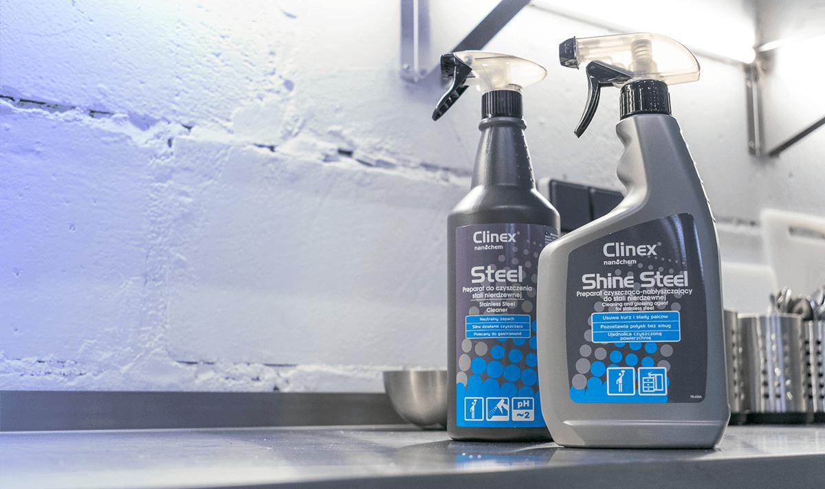 Czym czyścić powierzchnie ze stali - Clinex