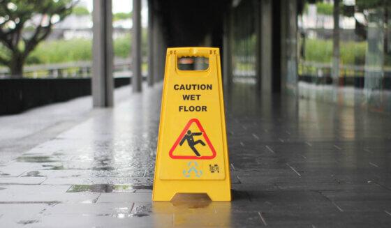 Mokra podłoga