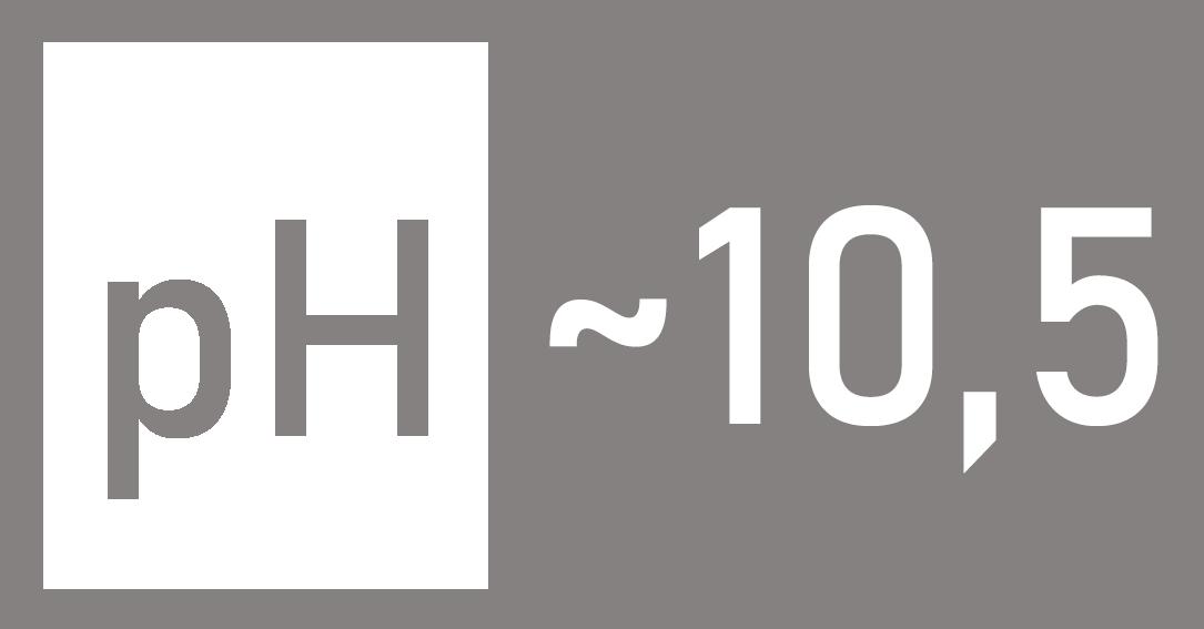 Poziom pH w preparacie 10,5